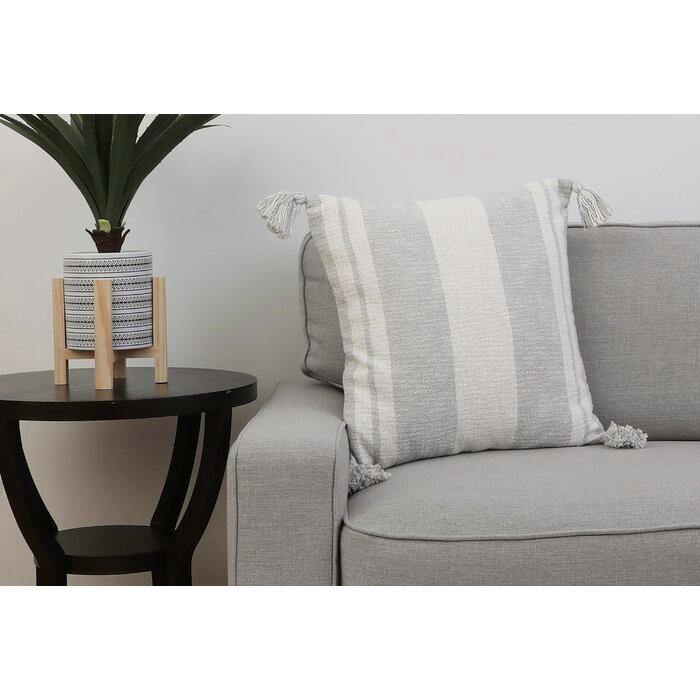 Wilcox Cotton Striped Throw Pillow in 2020   Throw pillows ...