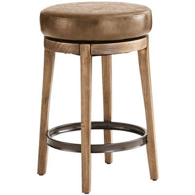 Pier 1 Imports Stratmoor Pecan Swivel Counter Bar Stool Stools And