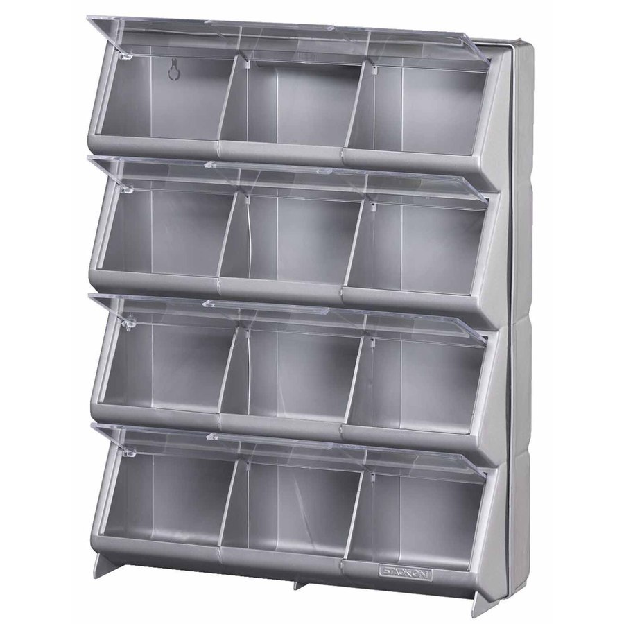 Shop Stack On Resin 12 Bin Storage Organizer At Lowes.com