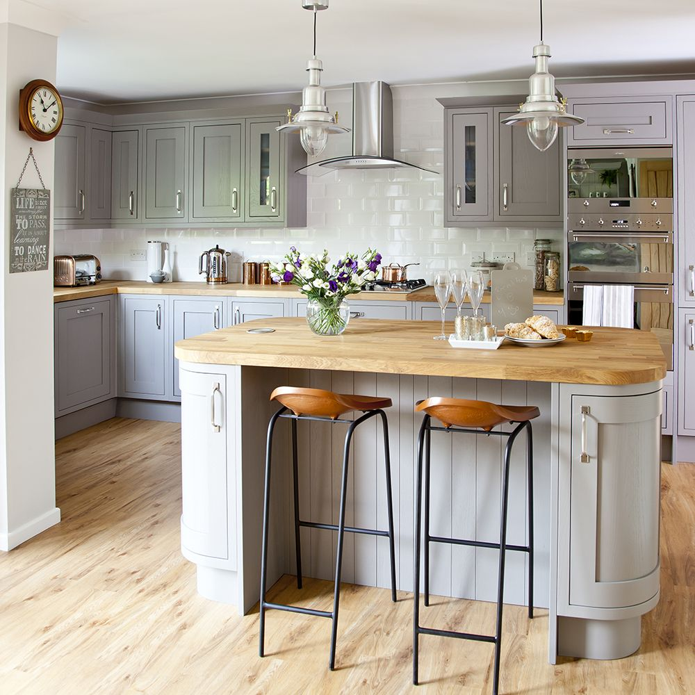 Image result for worktop and floor same colour   Grey kitchens ...