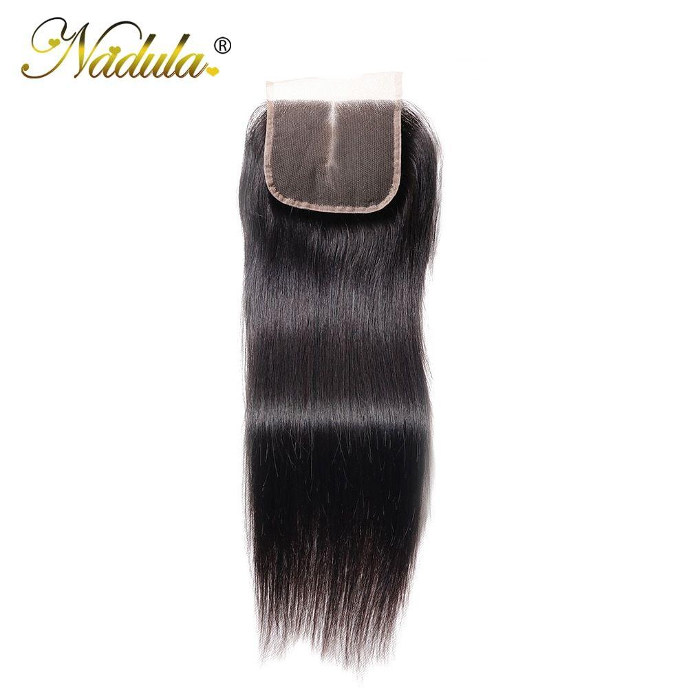 Nadula Hair 4x4 Middle Part Closure Indian Straight Hair