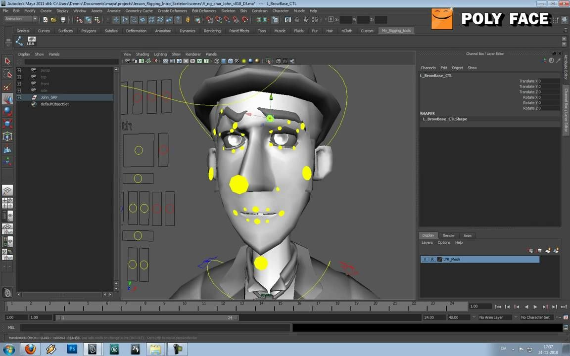 character rigging Creating an automatic character rig with the one-click option the quick rig tool is intended to be a fast way to add a character rig to an empty mesh when you click the auto-rig, maya analyzes your mesh to create a character rig this behind-the-scenes rigging process has many steps.