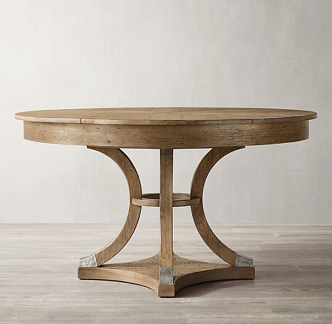 Addison Round Jupe Extension Dining Table In 2020 Dining Table