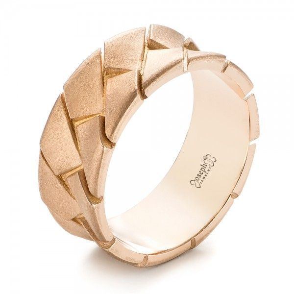 Custom Rose Gold Mens Band Groom style Gold bands and Weddings