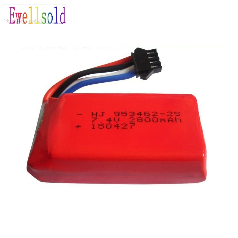 18.91$  Buy now - http://alilbk.shopchina.info/go.php?t=32337360693 - Ewellsold  FT902 2.4G RC racing boat spare parts 7.4V 2800mah Li-po battery free shipping 18.91$ #aliexpressideas