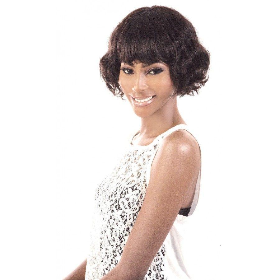 H6226 Badu-Motown Tress 100% Human Hair Wig Short