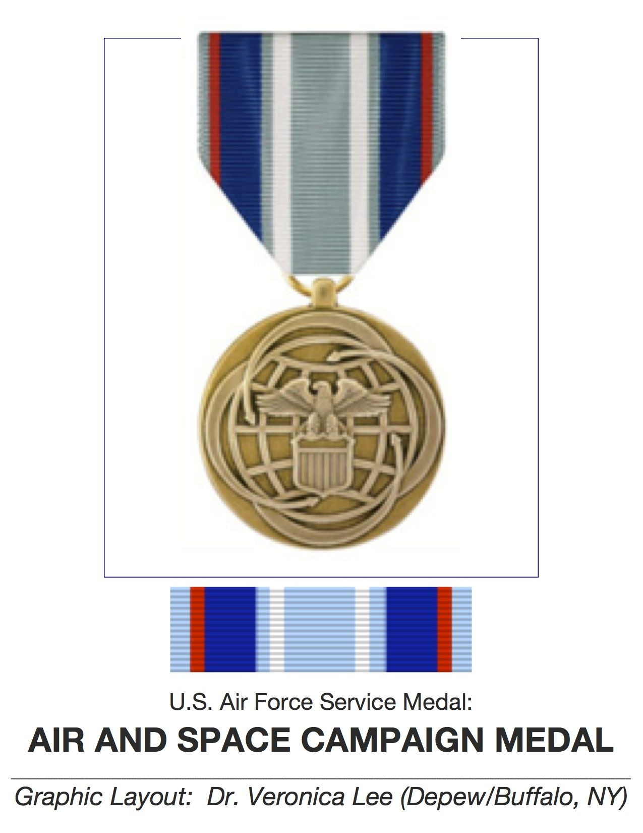 "Air Force SERVICE MEDAL ♥ ""ASCM"" ♥ ESTABLISHED in 04/24"