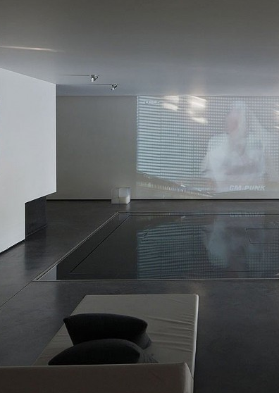 Luxury indoor pool, the Genets 3 House in Belgium by Aabe _. Why are minimal interiors so white and or black? Grey is so beautiful too.