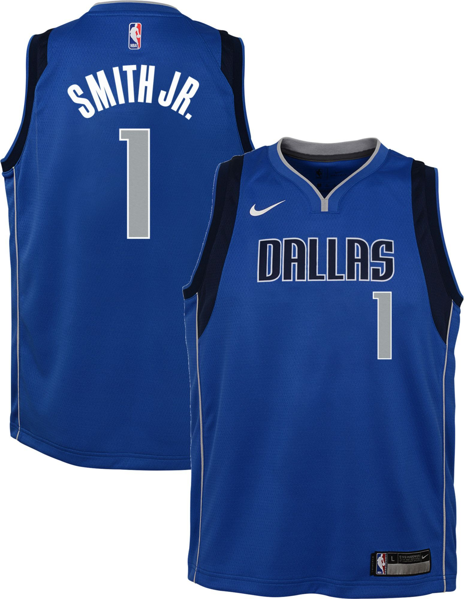 new style d3515 4d3e7 Nike Youth Dallas Mavericks Dennis Smith Jr. #1 Blue Dri-FIT ...