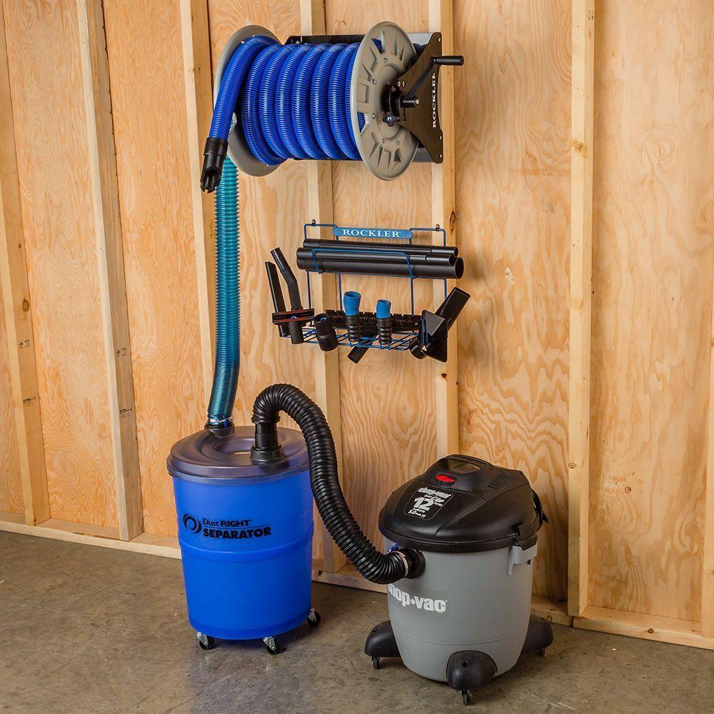 Dust Right Shop Vacuum Hose Reel Rockler Woodworking And Hardware Woodworking Shop Layout Shop Vacuum Garage Storage Organization