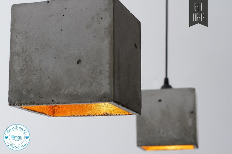 Hängelampe Beton Cube Leuchte Design Lampe B1 Von GANT Lights   Designer  Betonmoebel Innen Aussen