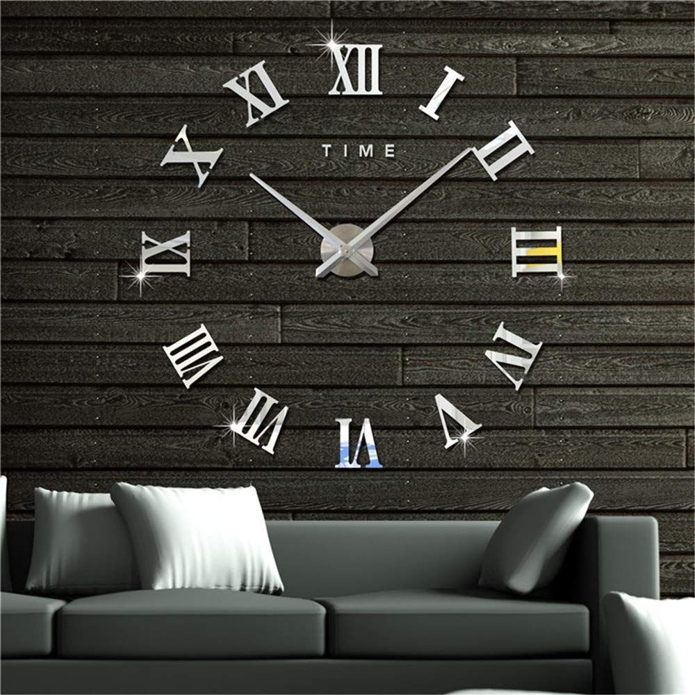 Artensky Wall Clock 3D DIY Large Roman Numerals Vintage ...