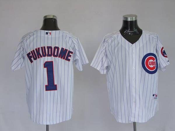 cubs 1 kosuke fukudome stitched white baseball jersey elite sports usa ¨c custom jerseys