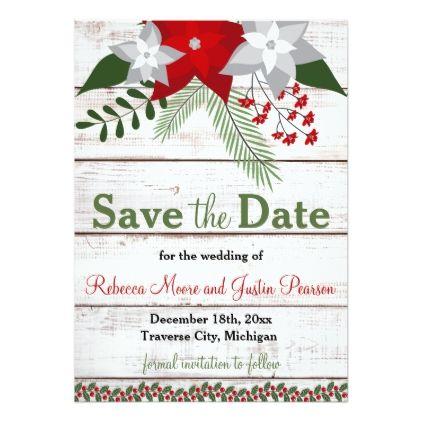 Holiday charm winterchristmas save the date card holiday charm winterchristmas save the date card wedding invitations cards custom invitation stopboris Images