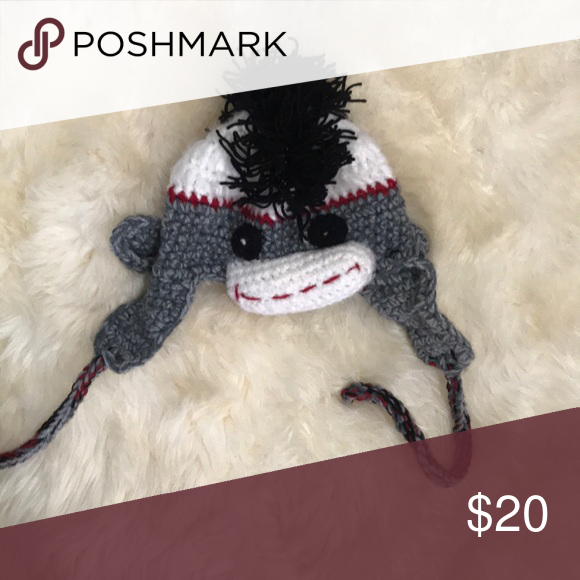 Handmade sock monkey hat Super cute, one of a kind sock monkey hat Accessories Hats #sockmoneky