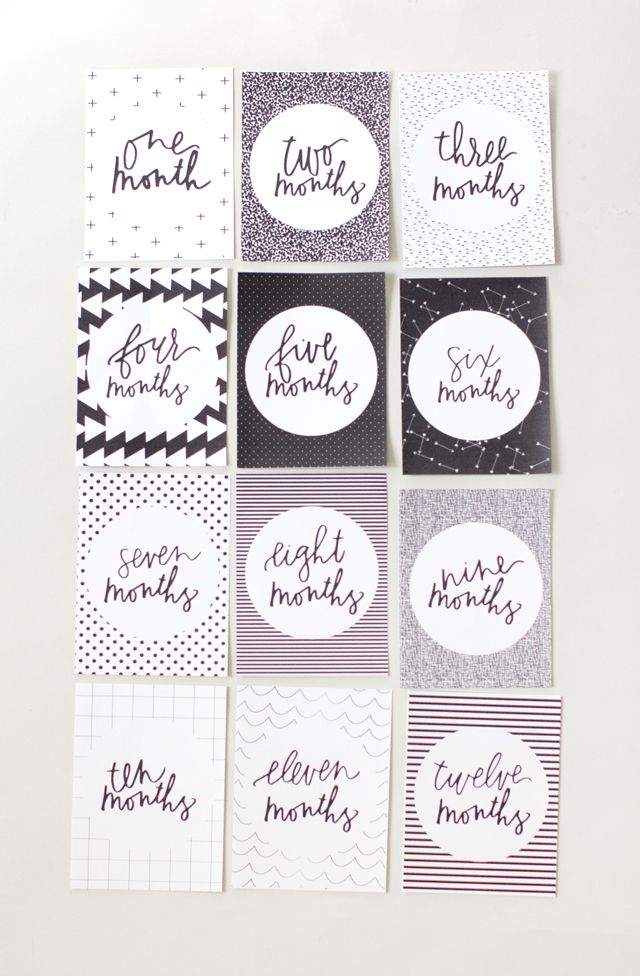 My First Memories Cards Babies First Year Moments Milestone Baby Shower B/&W !