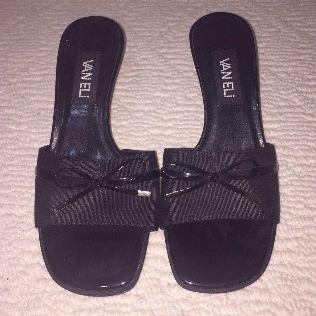 Black Vaneli Sandal With Heel