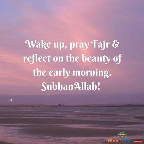 Wake up ⏰ Pray Fajr Reflect on Allah\'s creations | Islamic Quotes ...