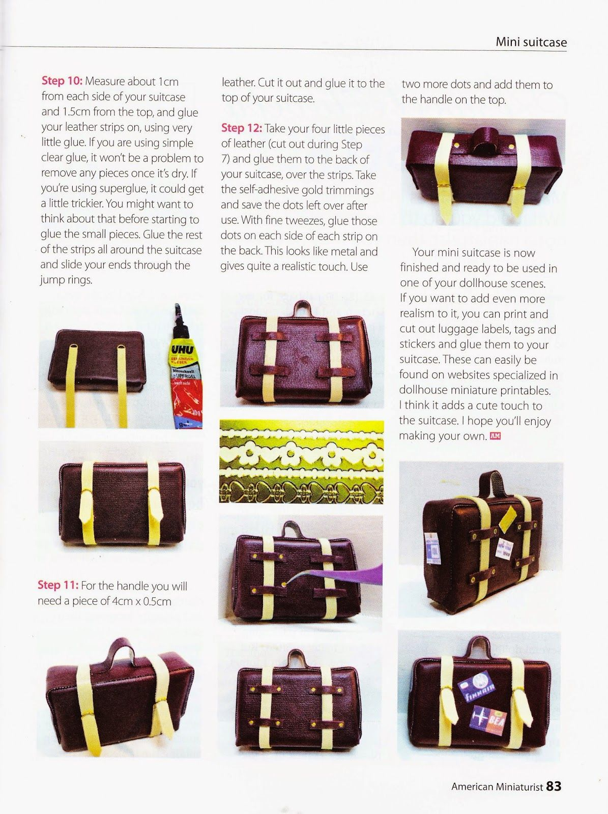 832bbed6c5 Hi there This is a little tutorial on how to make an little suitcase for  your dollhouse .
