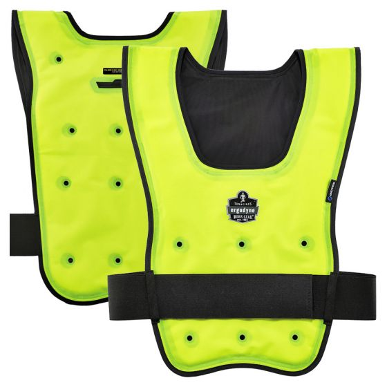 Ergodyne Chill Its 6687 Economy Dry Evaporative Cooling Vest In 2020 Cooling Vest Moisture Wicking Shirt Chill
