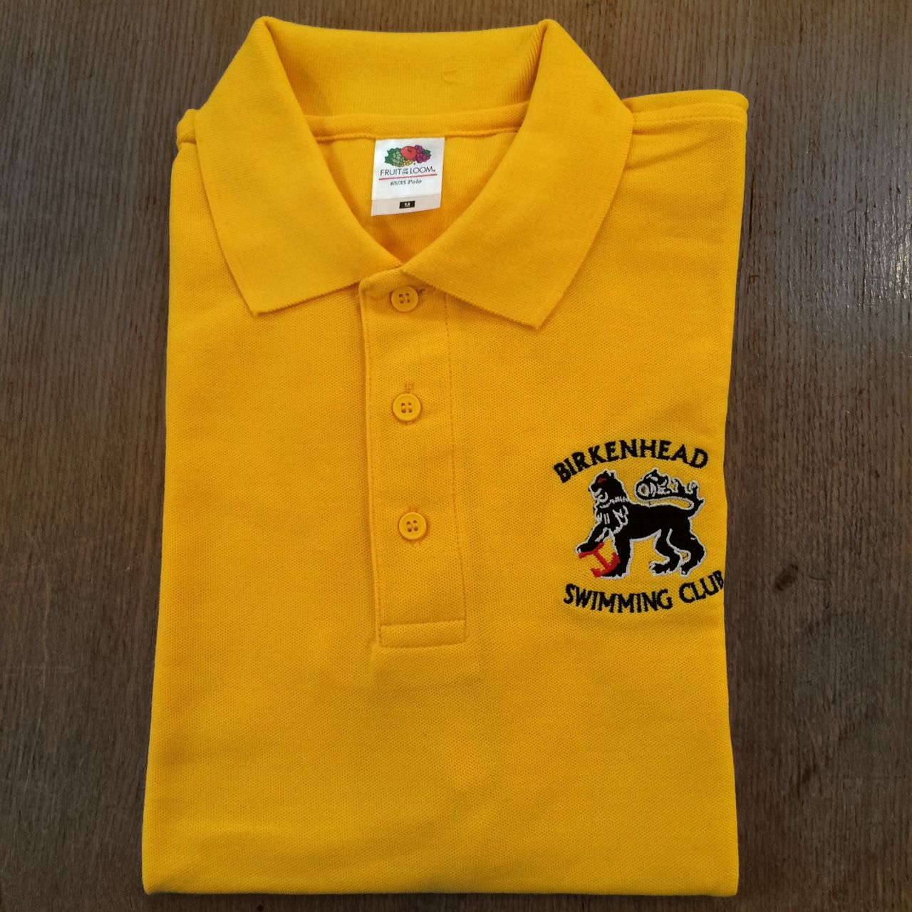 b019c56ed2c Custom embroidered polo shirt for Birkenhead Swimming Club