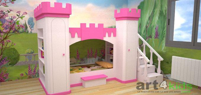 Cama castillo de princesa mod elena decoracion de - Camas princesas para nina ...