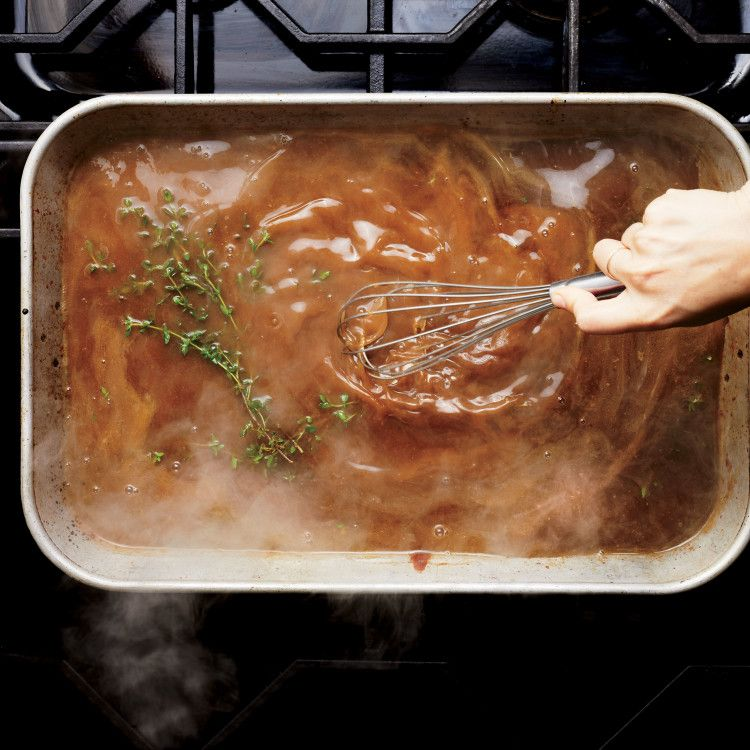 Classic Turkey Gravy with Thyme Recipe #turkeygravyfromdrippingseasy