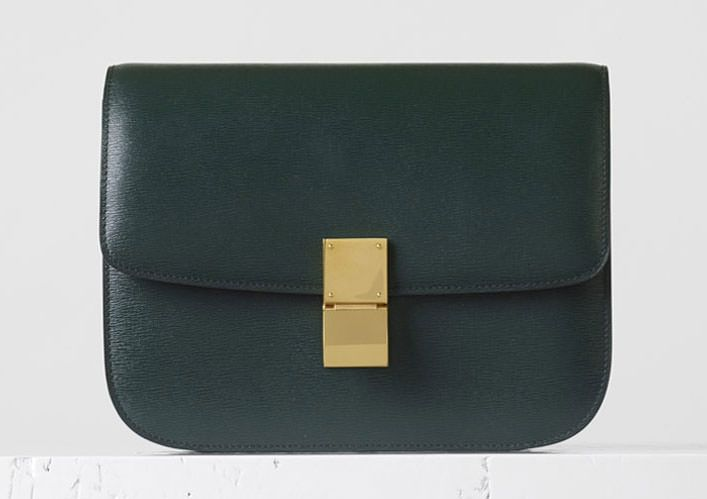 f50ac53266c5 Celine-Medium-Classic-Box-Bag-Dark-Green