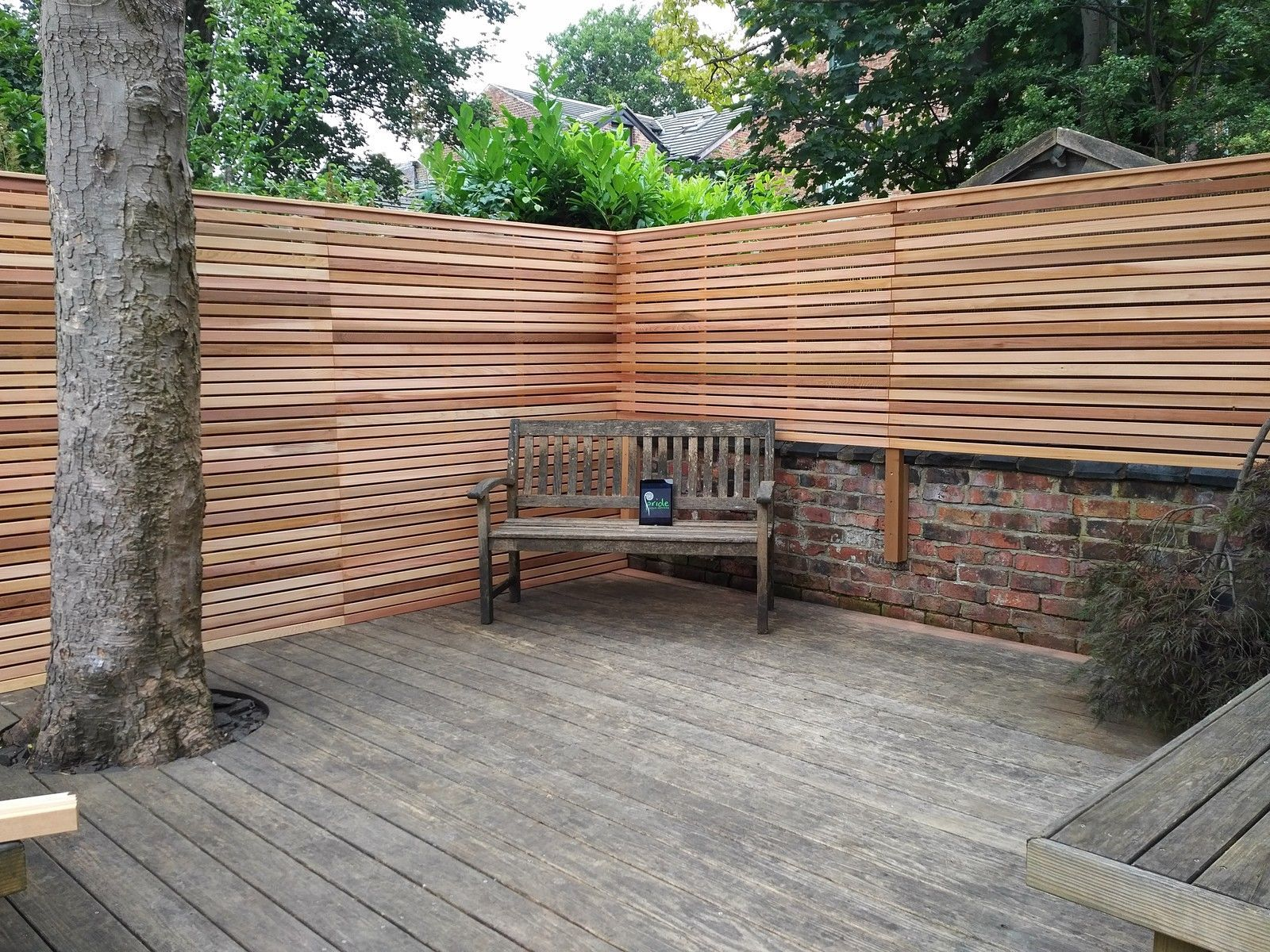 Contemporary screen fencing cedar fence panel horizontal fencing wide contemporary horizontal slatted panel built using western red cedar contemporary slatted screen fence panel built using premium finished western red baanklon Gallery
