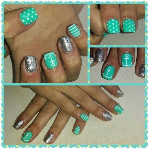 Marineras (uñas de gel Romina en facebook)