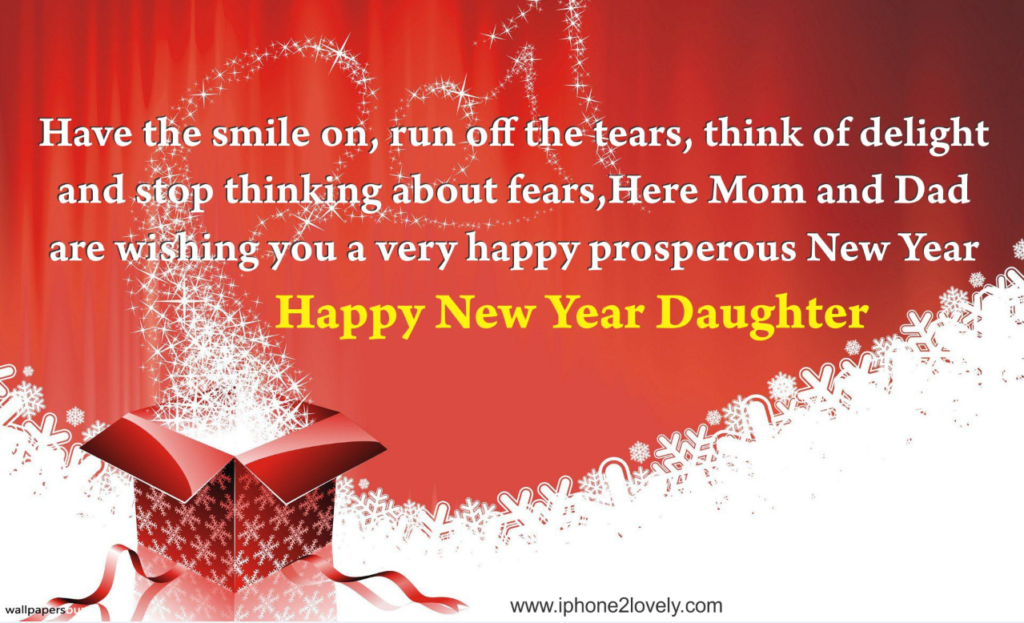 Happy New Year Greetings Message For Daughter | Happy New ...