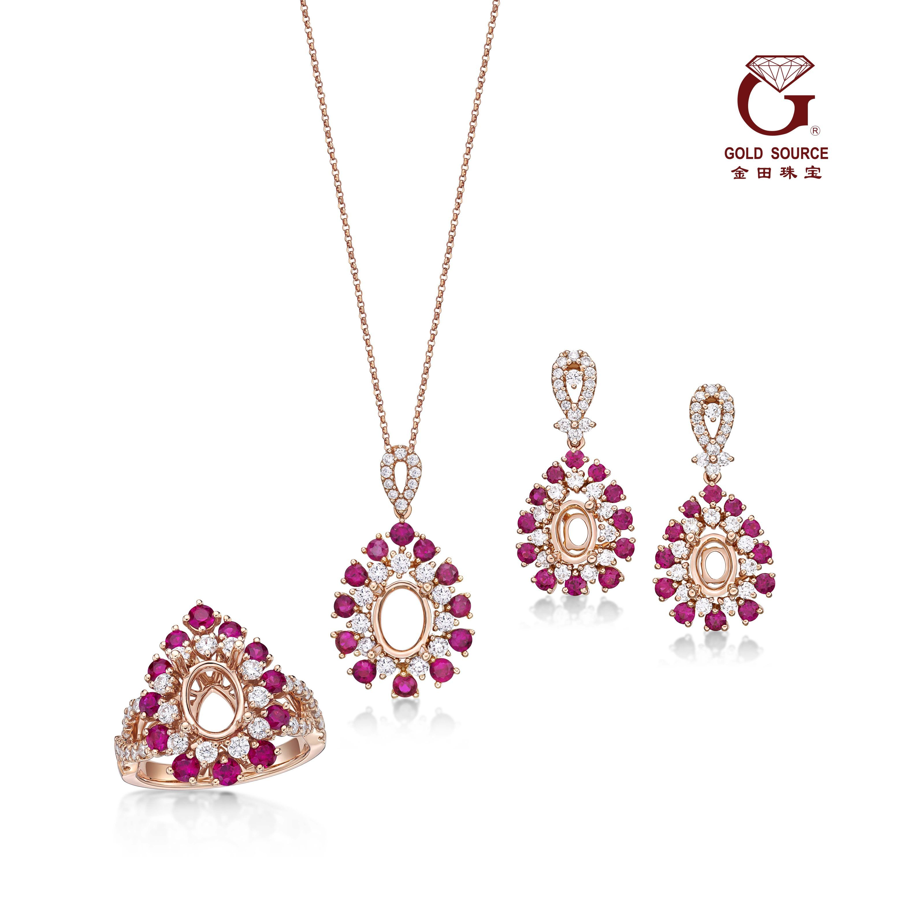 Trio setu collection features karat gold rings pendants and