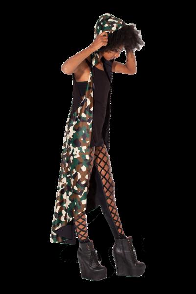 Commando Hooded Cape -LIMITED › Black Milk Clothing