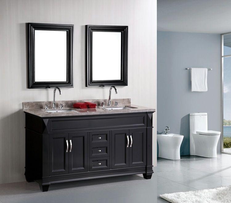 Salle de bain rétro - 50 idées déco intéressantes et originales ...