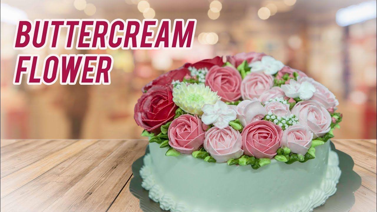 Menghias Kue Tart Dengan Buttercream Flower Tukang Dekor Cake