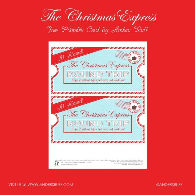 Christmas Express Ticket We printed these and gave them to the - free ticket printing