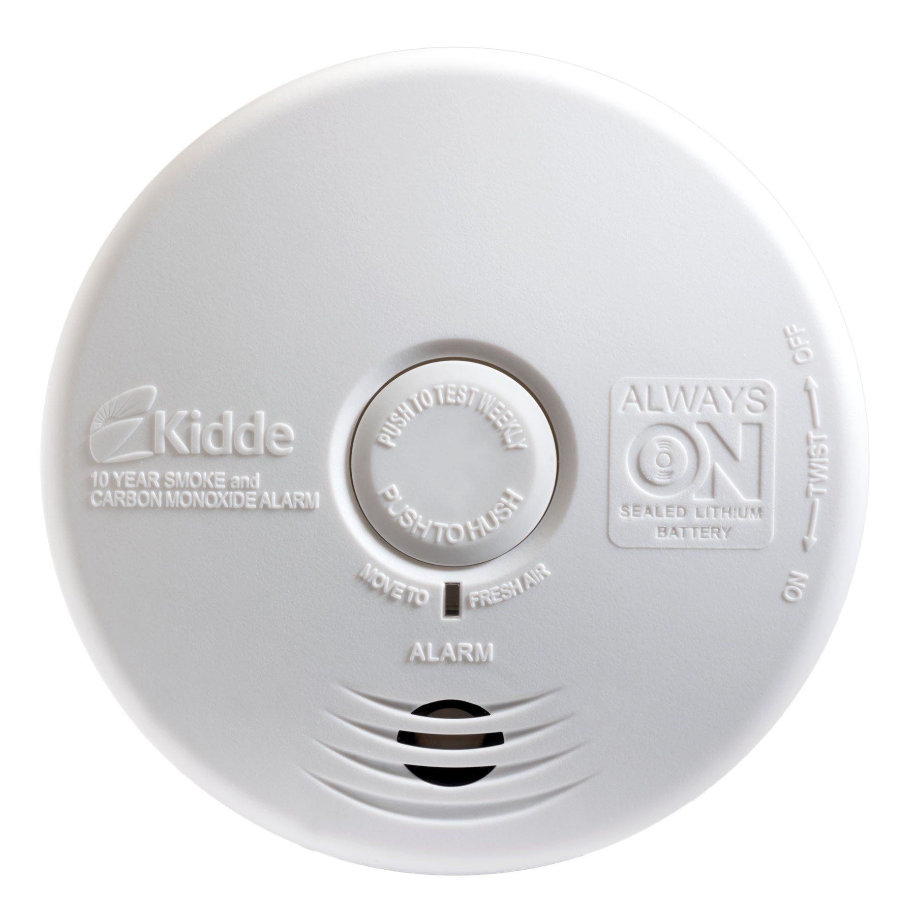 Kidde P3010k Co Worry Free Kitchen Photoelectric Smoke And Carbon Monoxide Alarm With 10 Year Sealed Battery Fishouse Carbon Monoxide Alarms Smoke Alarms
