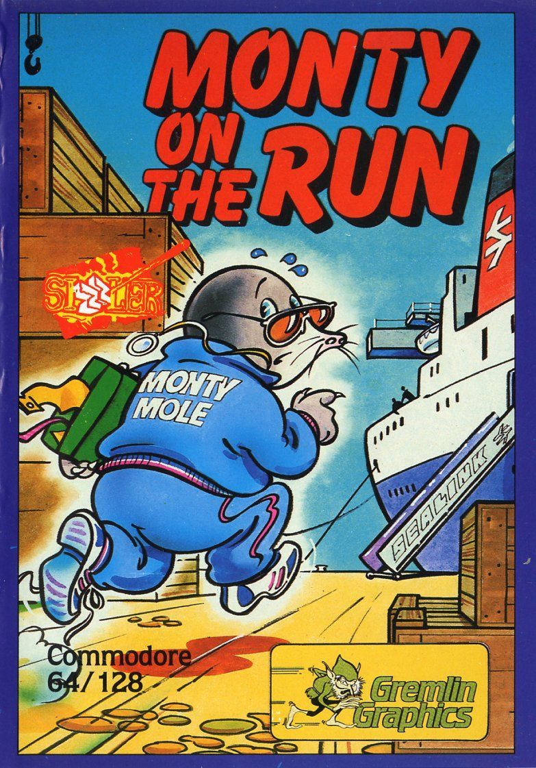 Monty on the Run Commodore 64 Front Cover  Retro gaming art Retro video  games Retro gaming