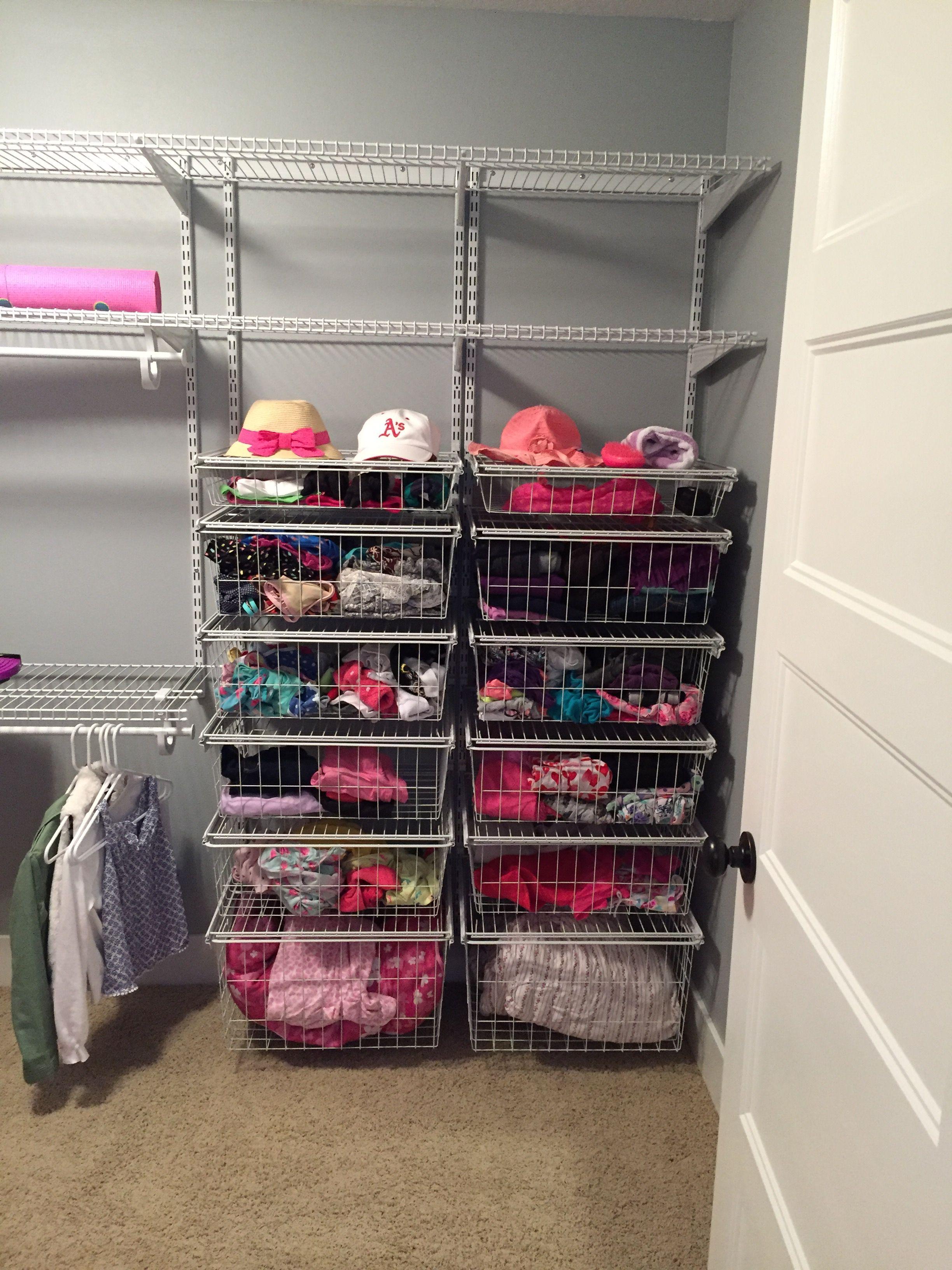 Closetmaid Shelftrack Wall in closet | Closet remodel ...