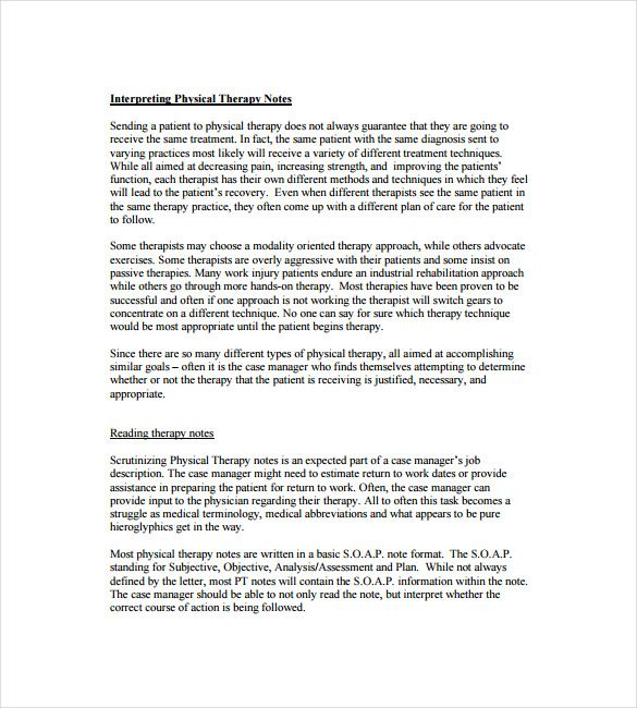 Soap Note Template   Free Word Pdf Format Download  Free