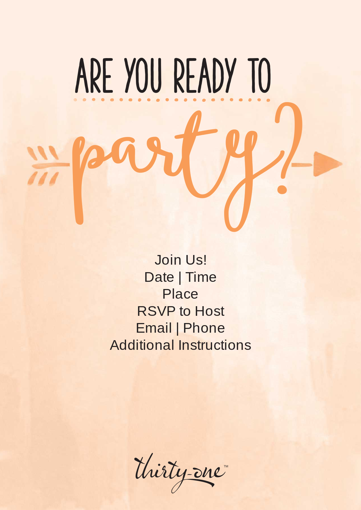 ThirtyOneGiftsLaunchPartyReminder Invitations – Thirty One Party Invites