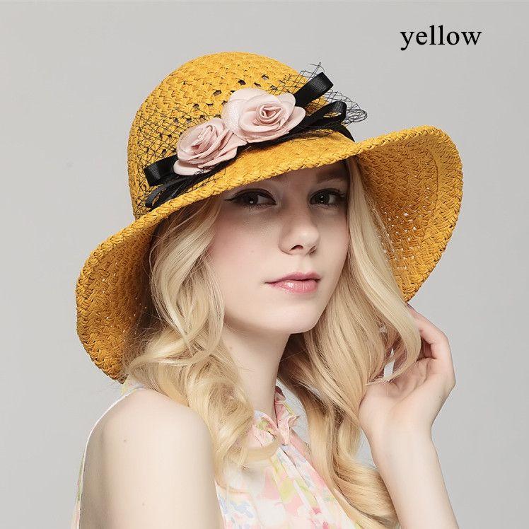 Delightful Summer Hats For Women Part - 8: Handmade Straw Sun Hats For Women UV Sun Protection Hats Summer Wear