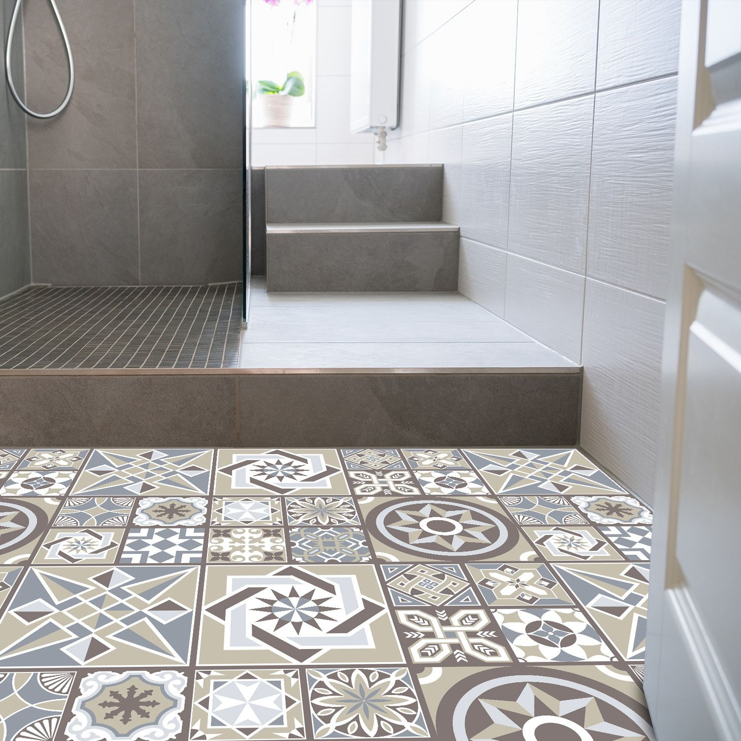 Limestone Spanish Non Slip Bathroom Flooring Tiles Flooring