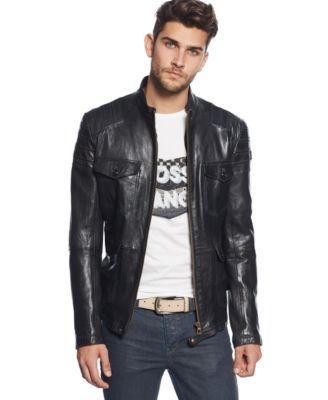 Boss Orange Jumahr Leather Jacket