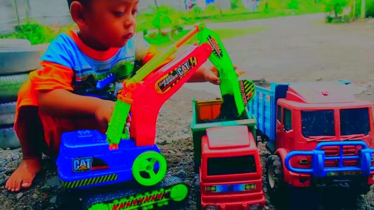 Mainan Mobil Mobilan Excavator Dump Truck Pasir Mobil Mainan