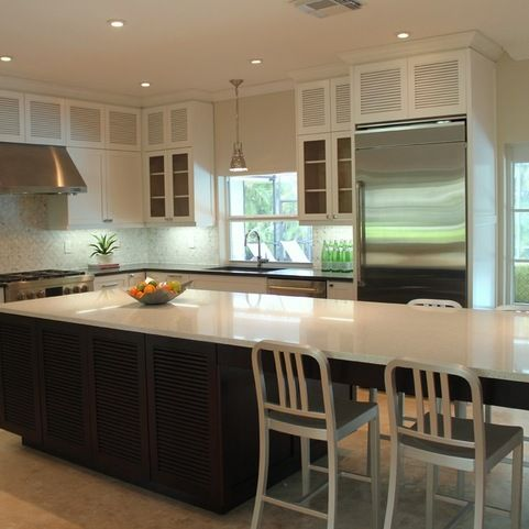 Shakerlouver Solid Wood Custom Made Kitchen Cabinets Simple Kitchen Cabinets Miami Inspiration