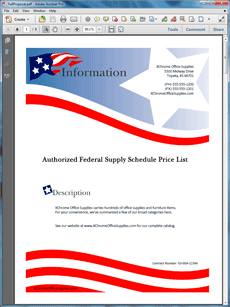 Government Contract Product Sales Sample Proposal - Create Your