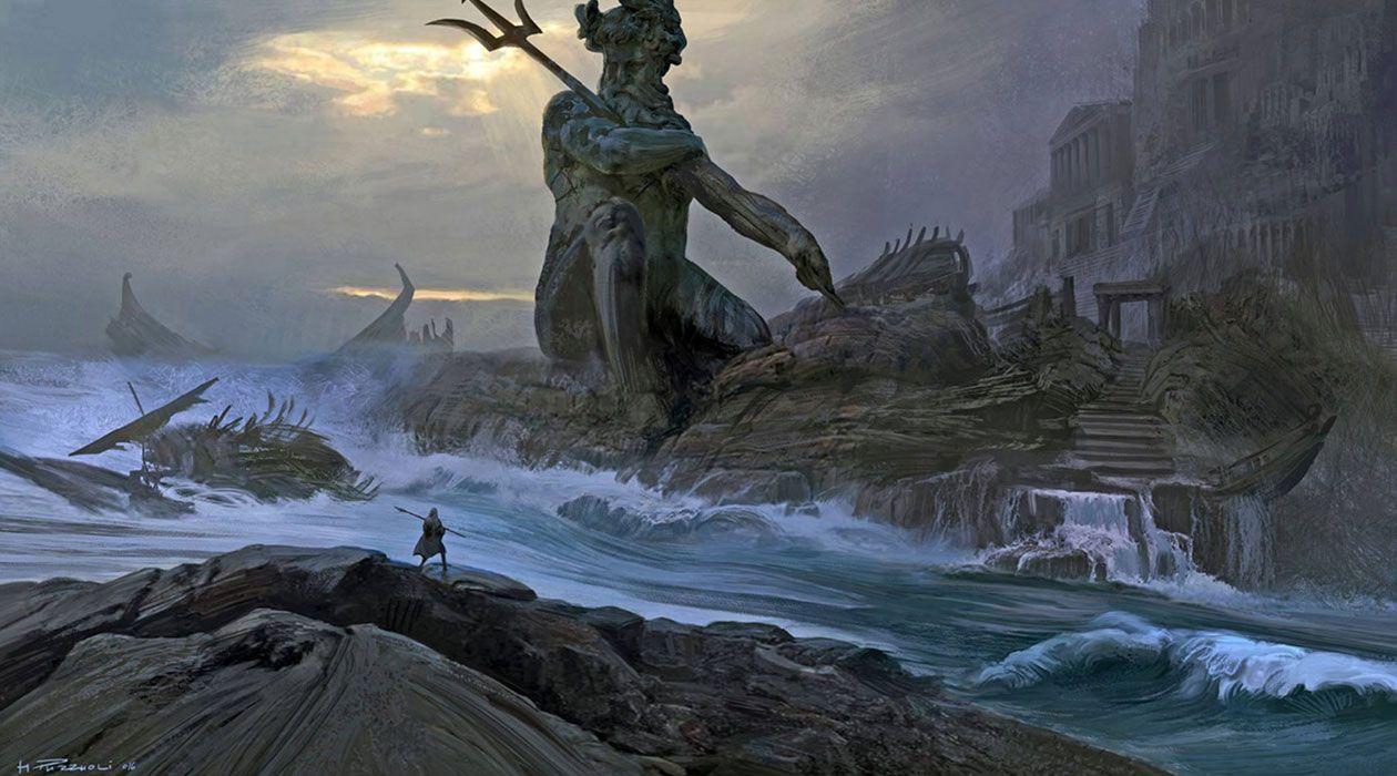 Neptune Statue From Assassin S Creed Odyssey Art Illustration