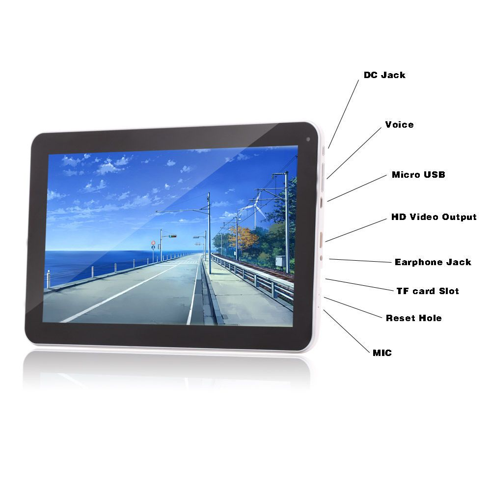 10.1 Inch Quad Core Google Android 4.4 KitKat Tablet 16GB