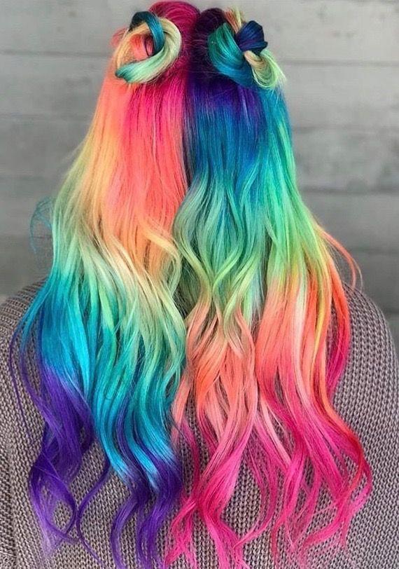 Pin By Alice Jarry On Hair Hair Styles Cool Hair Color Rainbow Hair Color